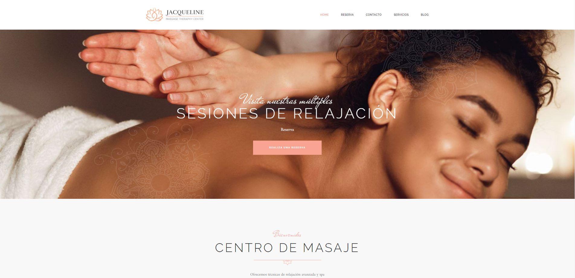 Diseño web masajista bonito y cuidado